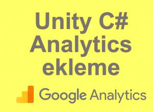 Unity Oyuna Google Analytics Ekleme